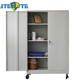 New Product Rolling File Storage Systems 2 Doors Metal Filing Cabinet On Wheels