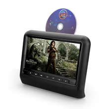 "9 ""HD Digital Tft Ultra-sottile Design Touch Screen Auto Poggiatesta DVD Player Supporto 32Bit Game + USB + SD + IR/trasmettitore FM MP5"