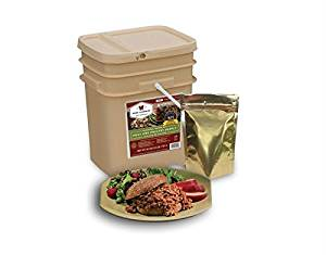 60 Serving + 20 Bonus Rice Servings Freeze Dried Meat Bucket