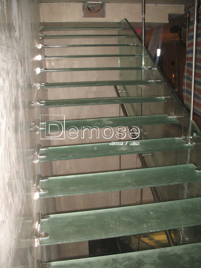 Cable Barandilla Escaleras Flotantes De Madera Acero Escaleras  ~ Escaleras Prefabricadas De Madera