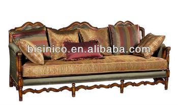 Victorian Vintage 3 Seater Sofa British Clical Set Living Room Parlor Furniture