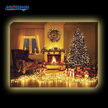 Christmas Led Canvas.2017 Christmas Theme Led Canvas Painting For Home Decor And Gift Buy Led Canvas Art Painting Christmas Painting On Canvas Christmas Painting On