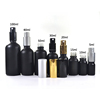10ml 15ml 20ml 30ml 50ml 60ml 100ml essential oil perfume matte black glass bottle with pump or spray cap