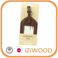 BSCI Promotional Leather Luggage Tag
