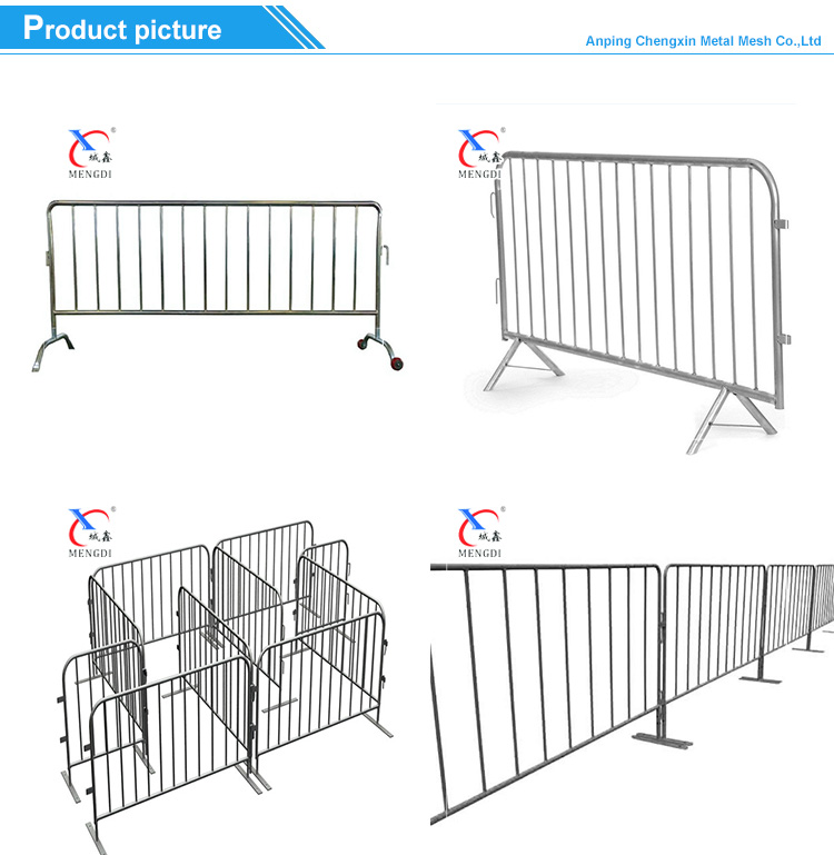 high quality hot dipped galvanized traffic road safety crowd control barrier for sale