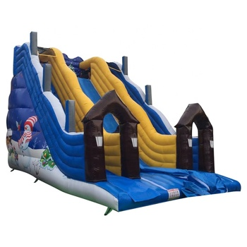 Christmas Air Filled Large Outdoor Commercial Kids Inflatable Slide for Sale