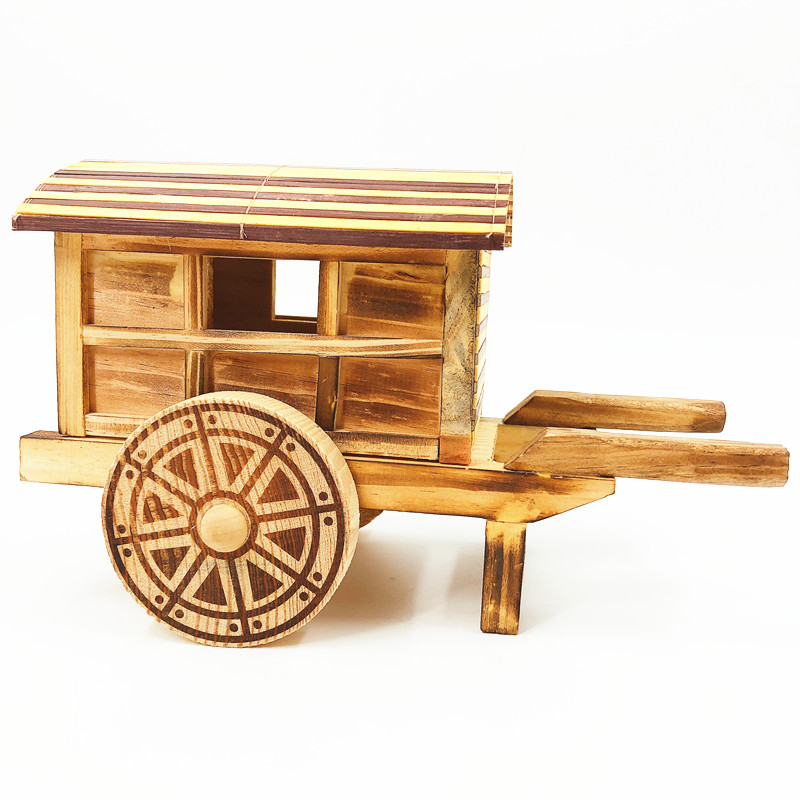 JD brand Child handmade horse carriage wood art <strong>craft</strong> for decoration