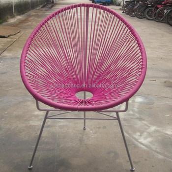 Beau Party Light Oval Sun Colourful Wicker Kids Rattan Chair