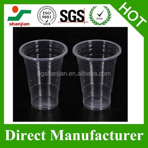 Horizontal Lines Series PP Disposable Clear Plastic Cups