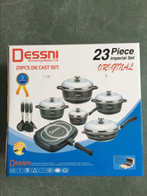 Die cast die-cast aluminum 23pcs 23 pcs dessini cookware set