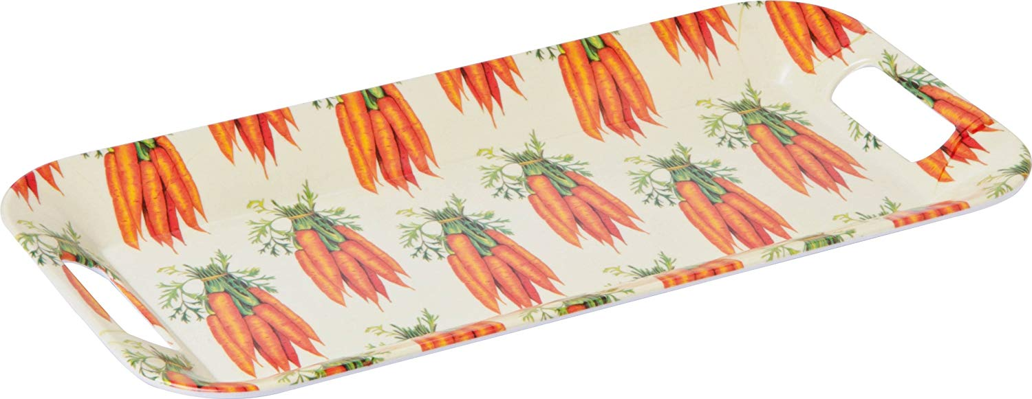 Boston International Ideal Home Range Melamine Breakfast Tray, Carrots