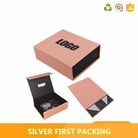 Wholesale empty logo priniting paper flat folding gift box