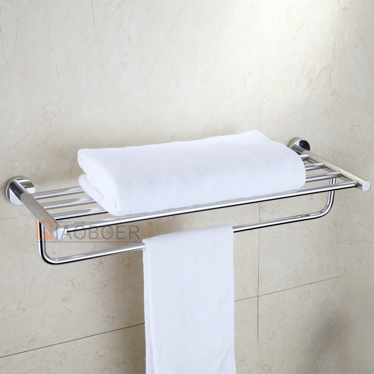 Decorative bathroom towel racks, hanging towel shelf, double deck towel holder
