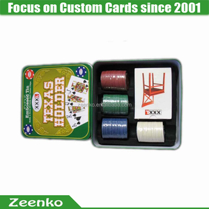 C036 Art paper custom printed multi game card play card box see through playing card