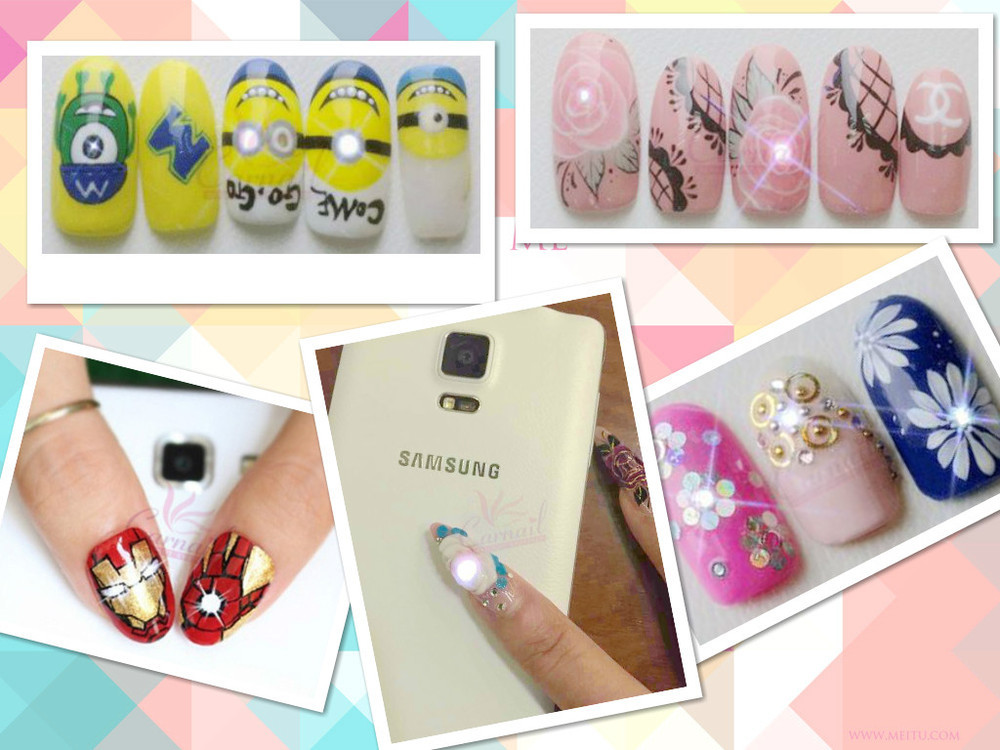Hot Sale Colorful Nfc Nail Sticker Flash Led Nfc Art Nail Stickers ...