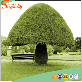 Topiary Trees Fake Mushroom Garden Grass Types And Natural