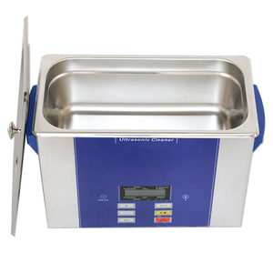 Porpulor stainless steel ultrasonic cleaner with LCD display for glass,  silver and watch band 6L