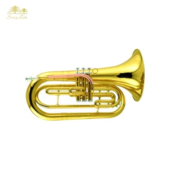 Bb key Gold lacquer marching baritone for sale