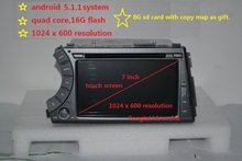 7″pure Android 4.4.4 for ssangyoung Kyron Actyon car dvd,gps navi 3G,Wifi,BT,4 core,16G flash,1080P,1024 x 600,Russian,English