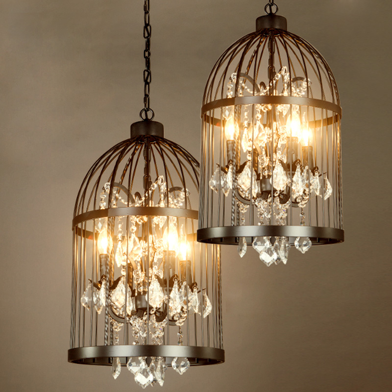 Gatsby Style Art Deco American Empire (Basket) Chandelier 2 Lights