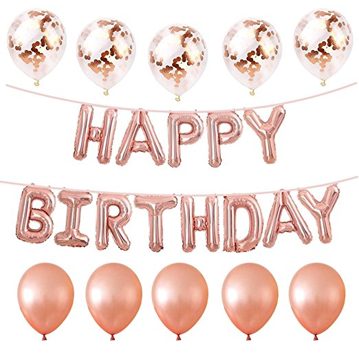 Yiwu Microstar Rose Gold Balloons Happy Birthday Balloon Set Party Supplies For Birthday