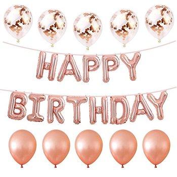 Yiwu Microstar Rose Gold Balloons Happy Birthday Balloon Set Party Supplies For