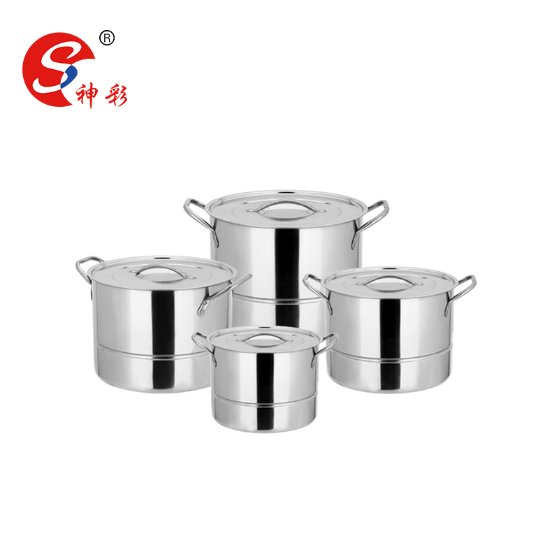 8pcs Stainless steel dim sum steamer pot / induction cooker cooking pot
