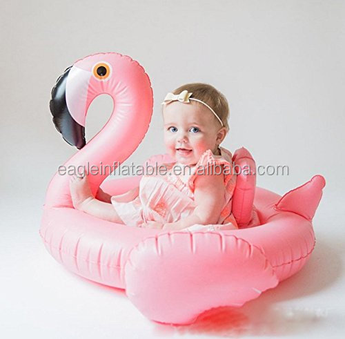 Baby Opblaasbare Flamingo Vorm Kids Float Seat Zwemmen Boot Ring Zwemmen Ride-On Speelgoed