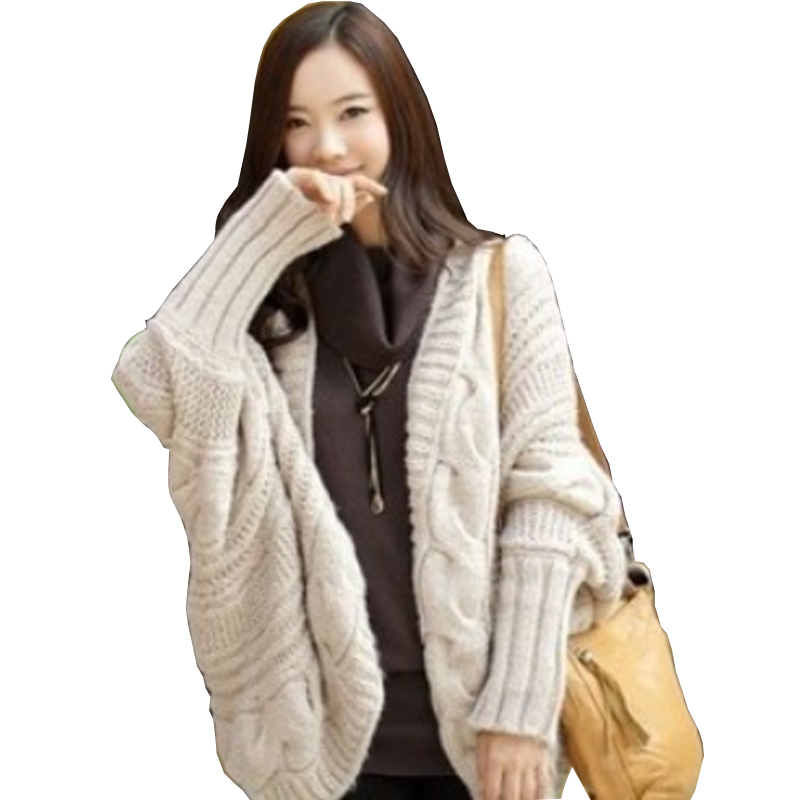 Woman Casual 2015 Ladies Winter Sweaters Bat Sleeve Women Fashion Wool  Knitted Cardigans Korean Solid Hollow Sweater Cardigan