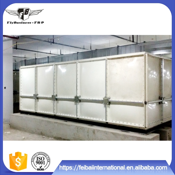 Hot sale high quality no pollution long life smooth smc/frp/grp water tank