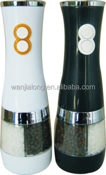 Double model electric pepper salt mill grinder