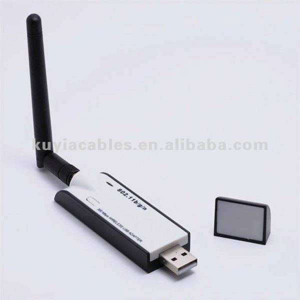 300 m usb wifi adaptateur sans fil lan card avec antenne. Black Bedroom Furniture Sets. Home Design Ideas