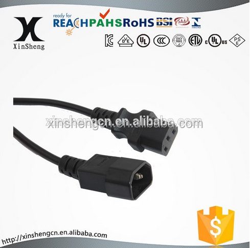 computer extension cord IEC 320 C13 to IEC 320 C14