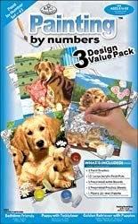 "Bulk Buy: Royal Brush Paint By Number Kit 8 3/4""X11 1/2"" 3/Pkg Junior Small/Dogs PBNVALPK-43 (3-Pack)"