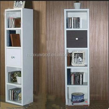 HX MZ653 Children Room White Color Corner Set Narrow Bookcase