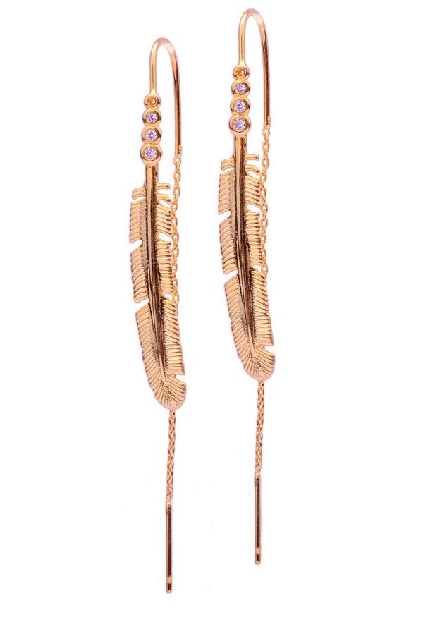 Se1152 Design Indian Long Earrings Jewelry Leaf Shape Chain ...