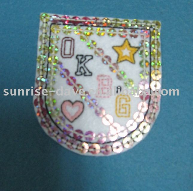 Metallic Badge,Embroidery Patch,Applique