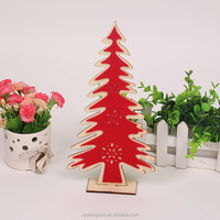 2018 Red Christmas Tree Decoration Wood Decoration
