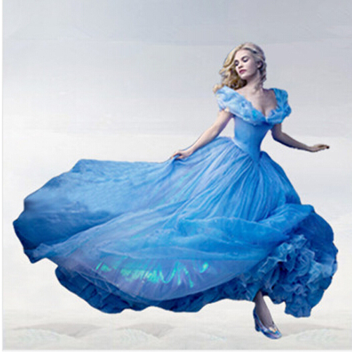 Cinderella 2015 Costumes Girls Dresses Shoes Jewelry: Retail New 2015 Girls Cinderella Dress Princess Dress
