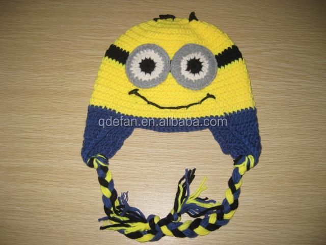 Venta Caliente Minion Crochet Sombreros Y Juegos Para Bebé Recién ...