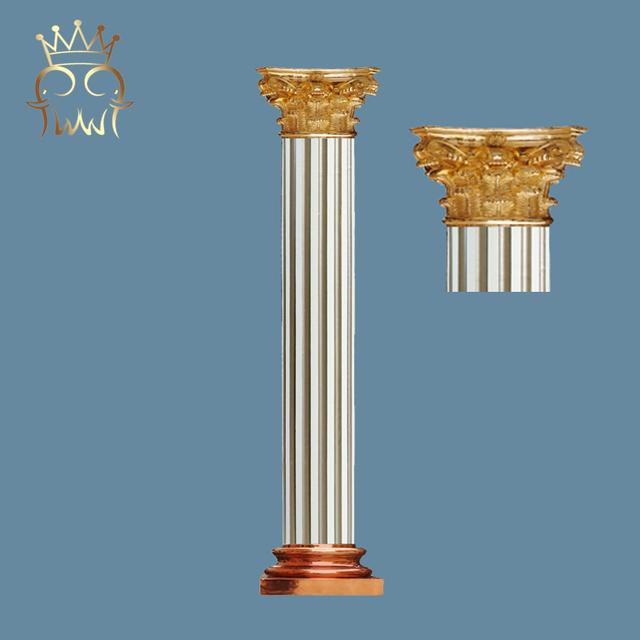 PU Lowes Greek Round Roman Small Columns Door Plastic Pillars For Decoration