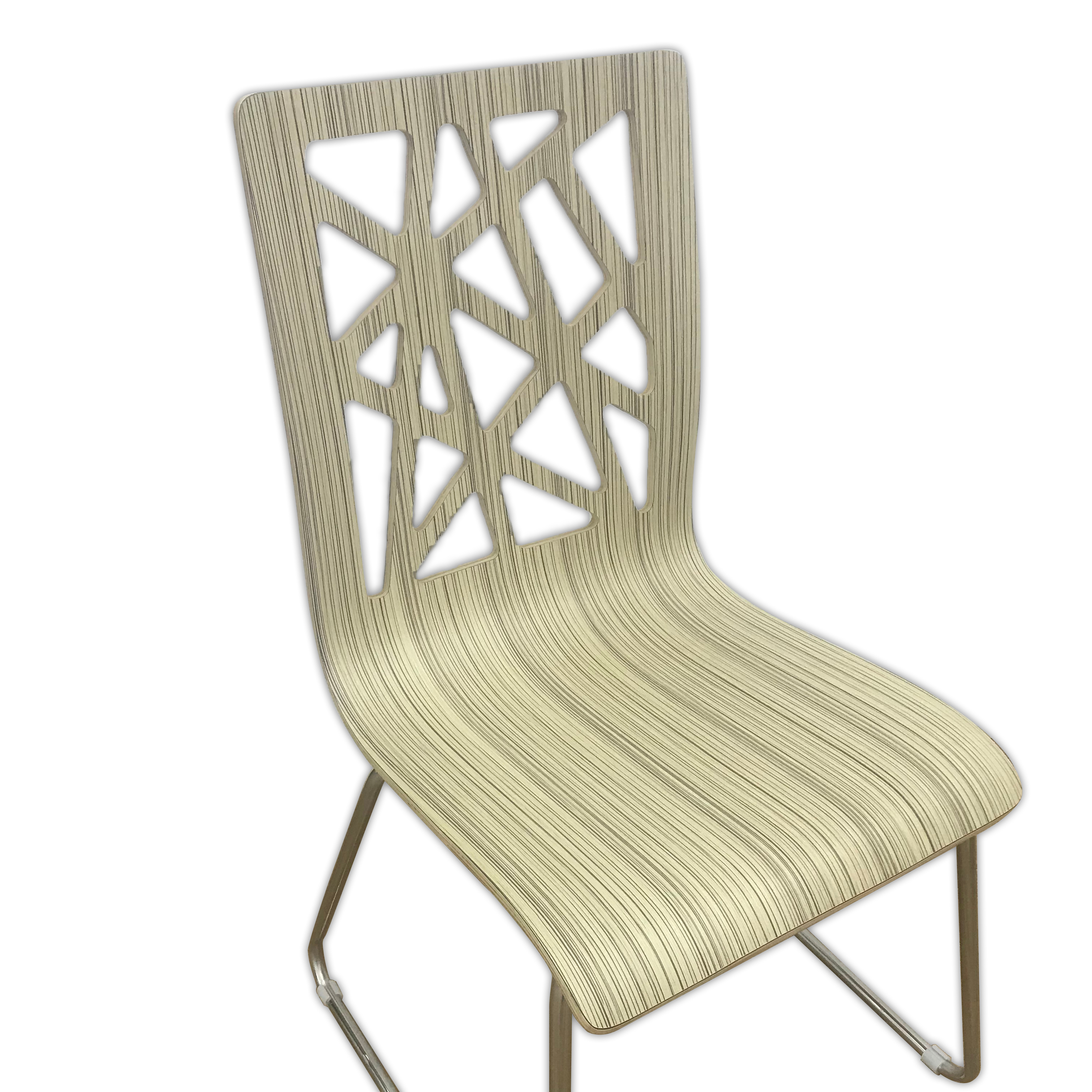 Big sale restaurant dinning bentwood chair in zebra wood color