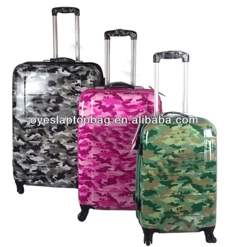 "20"" 24"" 28"" travel abs plastic luggage with aluminium cabin trolley"