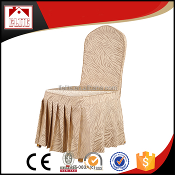 Ruffled Dining Room Chair Cover Lycra
