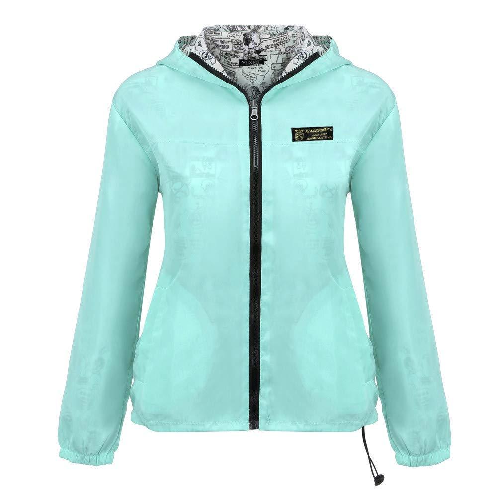 Dreamyth-Winter Women Long Sleeve Solid Hooded Zipper Pockets Casual Pullover Sport Reversible Wear Coat