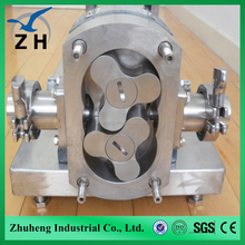 stainless steel sanitary lobe pump rotor stator pump with best after sale service