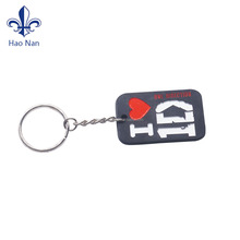 customized logo branding PVC key chains gift as souvenir