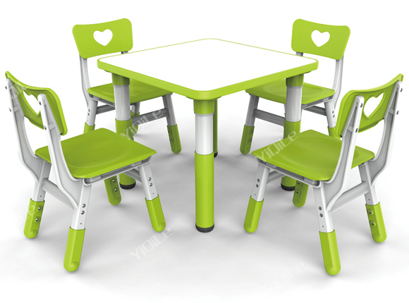 beautiful and fresh design dining table set cafe table chair set kids study table