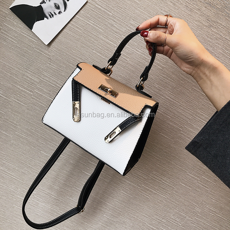 Classic Design Dian Hot Sale Small Lock Leather Shoulder <strong>Handbags</strong> for Ladies