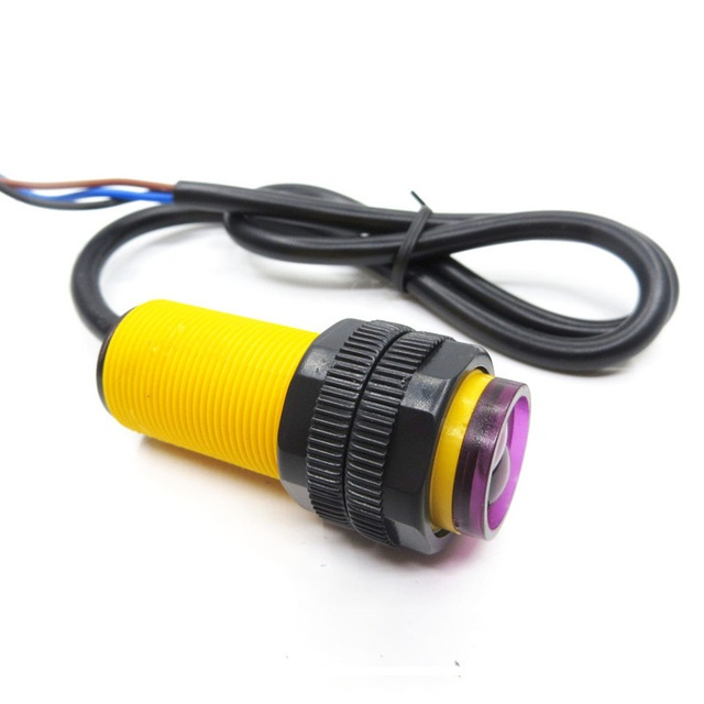 E18-D80NK Infrared Obstacle Avoidance Photoelectric Sensor Proximity Switch 3-80cm Detection Range Adjustable